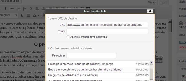 linkagem interna no wordpress