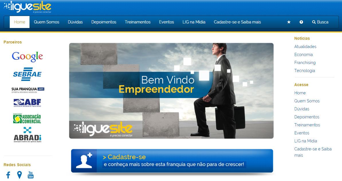 Franquia Virtual Ligue Site